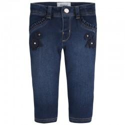 MAYORAL SPODNIE długie jeans aplikacja 1536 kolor 81