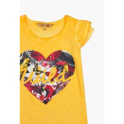 T-shirt z krótkim rękawem dla dziewczynki 6-8lat