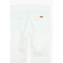 Boboli Eleganckie białe spodnie chłopięce 10-16 lat
